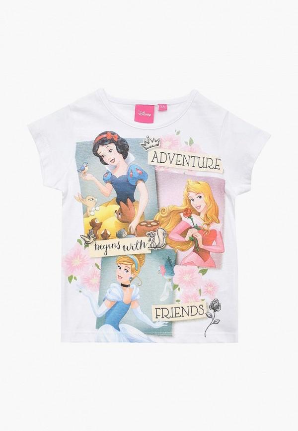 футболка с коротким рукавом disney для девочки, белая