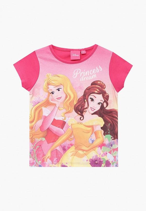 футболка с коротким рукавом disney для девочки, розовая