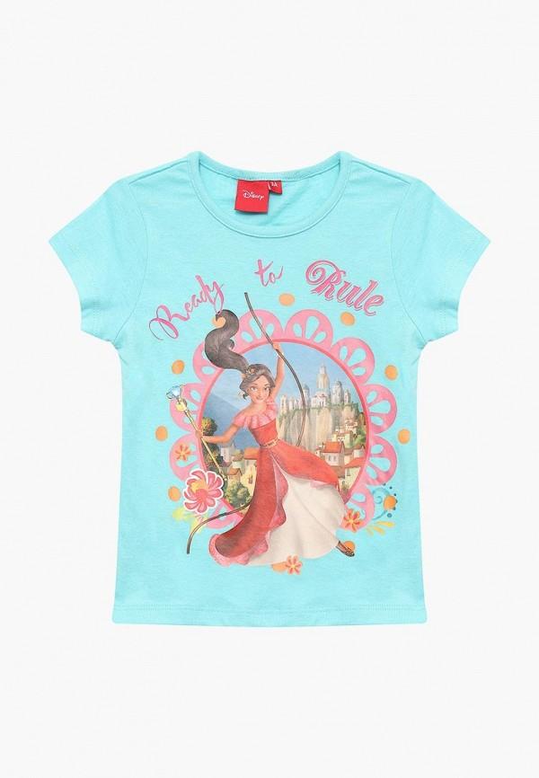 футболка с коротким рукавом disney для девочки, бирюзовая
