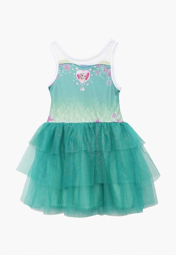 платье disney для девочки, зеленое