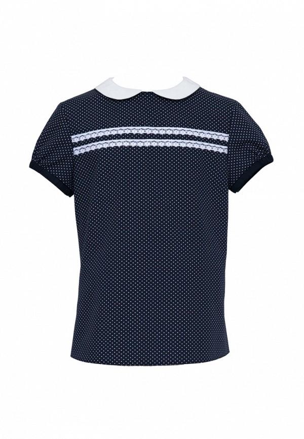 блузка sly для девочки, синяя