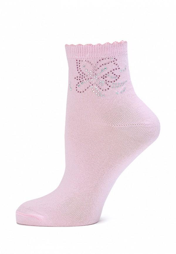 носки larmini для девочки, розовые