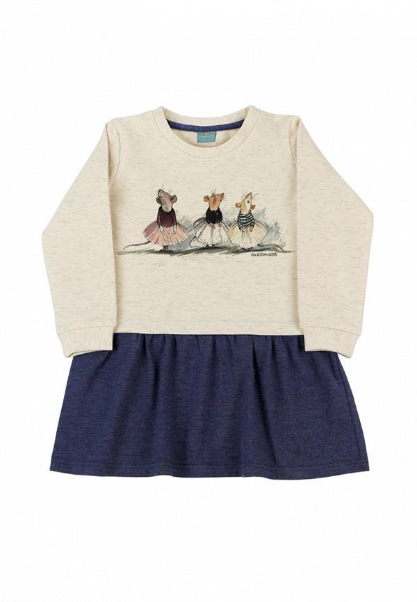 повседневные платье lisa&leo для девочки, разноцветное