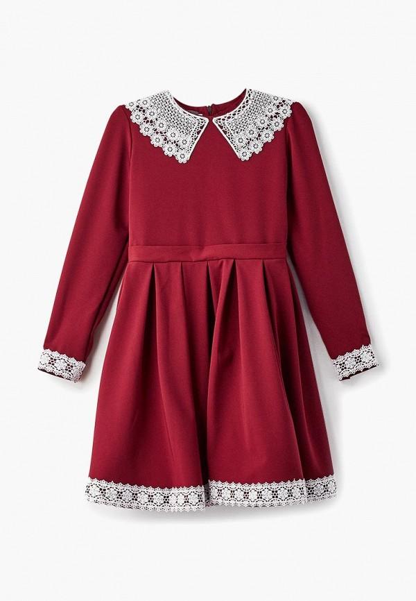 платье shened для девочки, бордовое