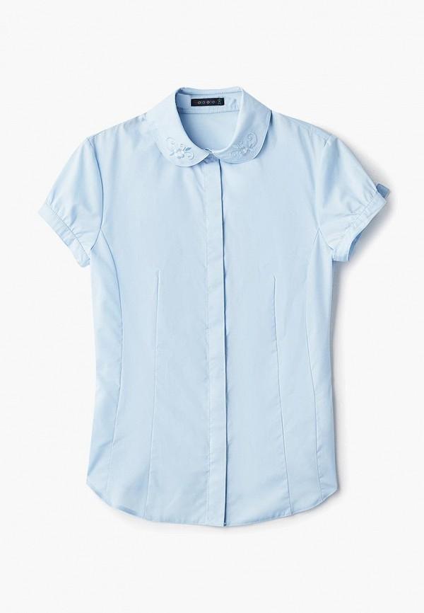 блузка katasonov для девочки, голубая