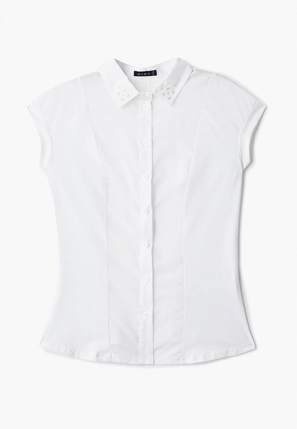 блузка katasonov для девочки, белая