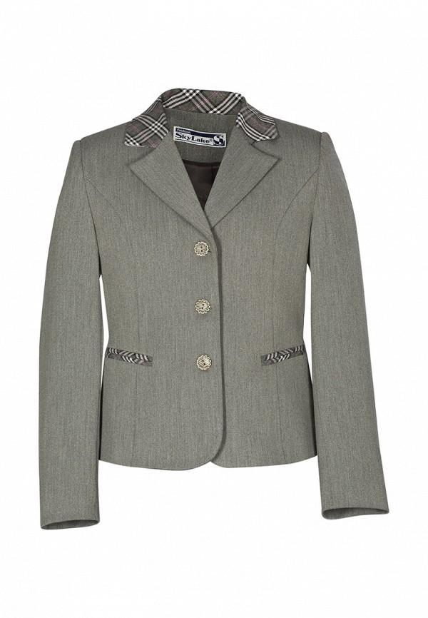 пиджак sky lake для девочки, серый