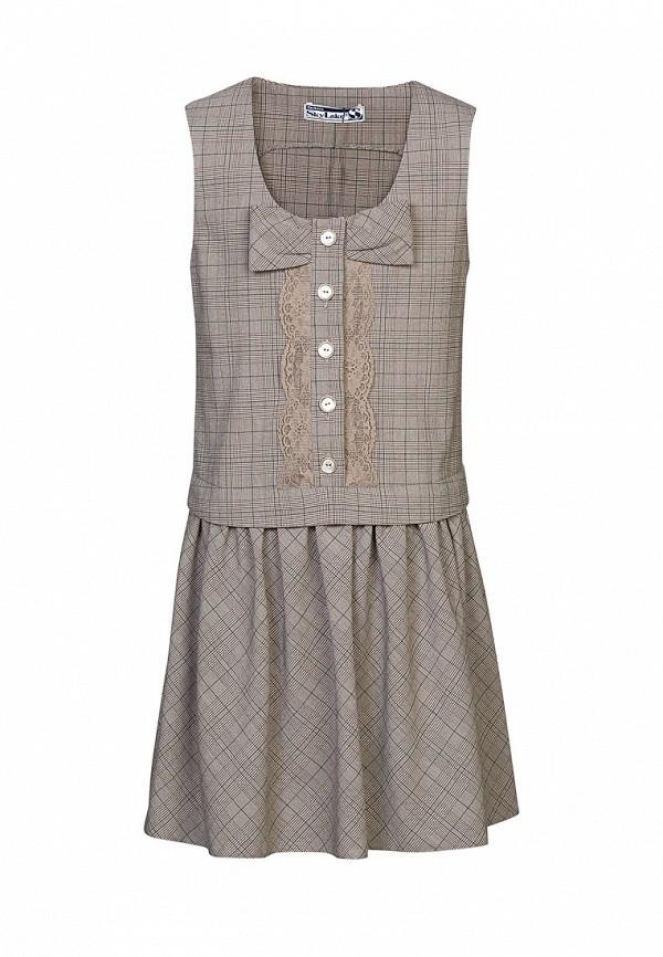 платье sky lake для девочки, серое