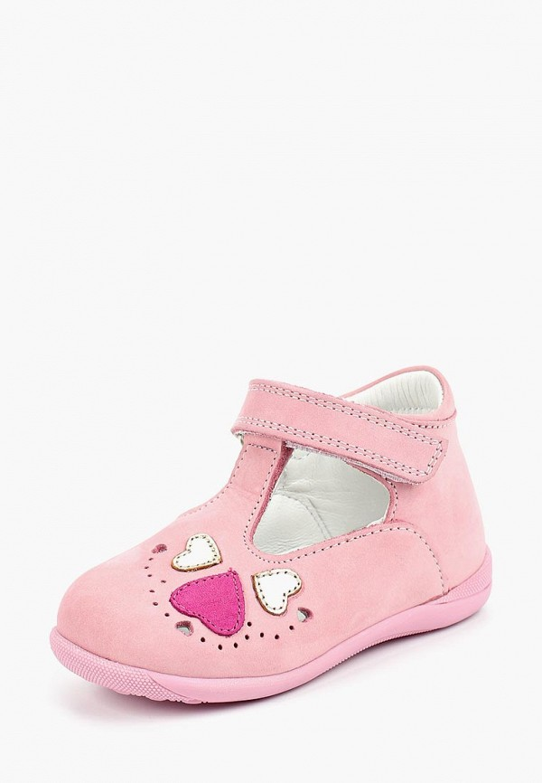 туфли lovely puppy для девочки, розовые