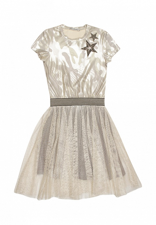платье noble people для девочки, золотое