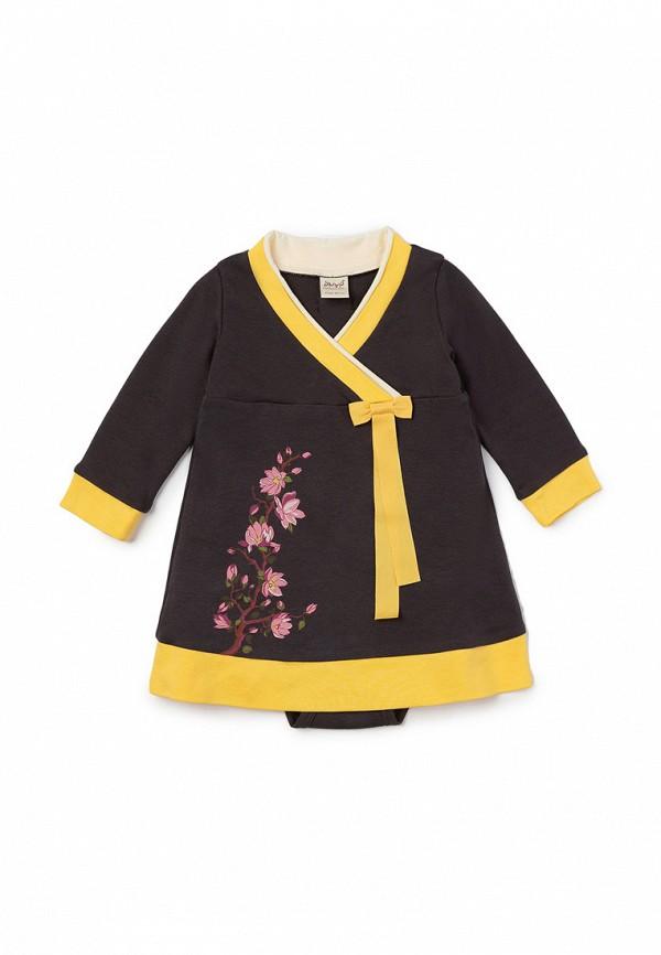повседневные платье ёмаё для девочки, серое