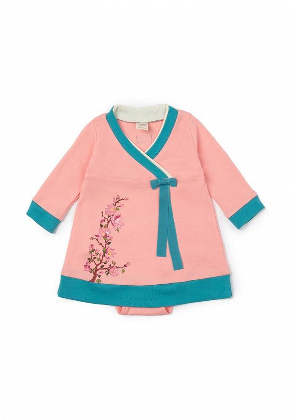 повседневные платье ёмаё для девочки, розовое