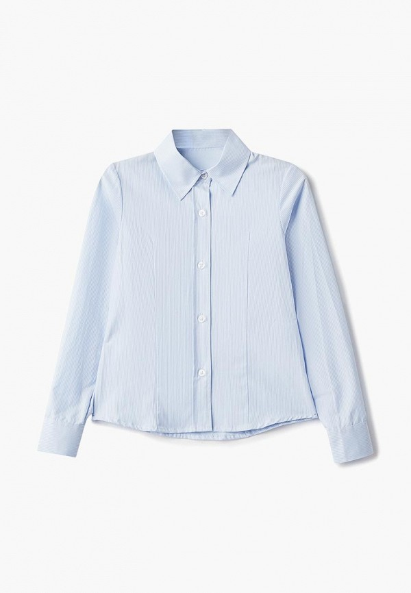 рубашка katasonov для девочки, голубая
