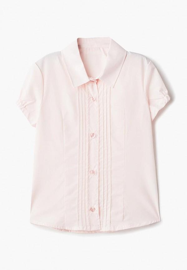 блузка katasonov для девочки, розовая
