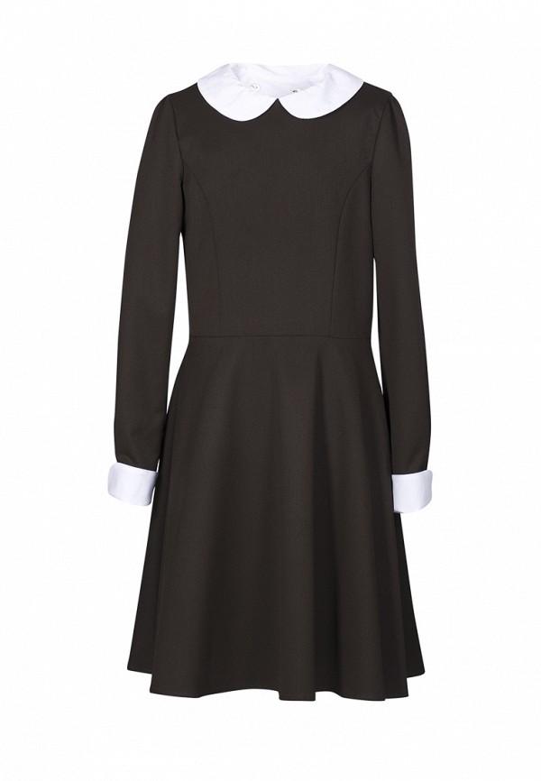 повседневные платье sky lake для девочки, коричневое