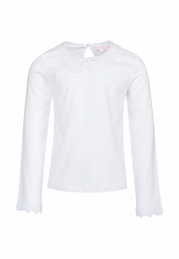 блузка красавушка для девочки, белая