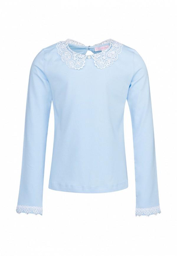 блузка красавушка для девочки, голубая