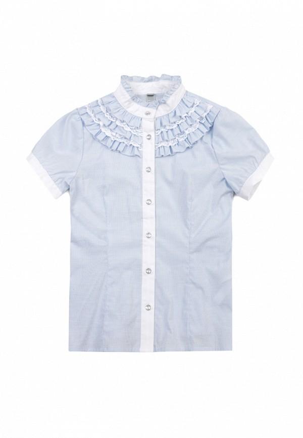 блузка s'cool для девочки, голубая