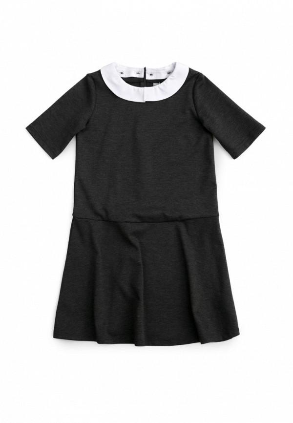 повседневные платье s'cool для девочки, серое