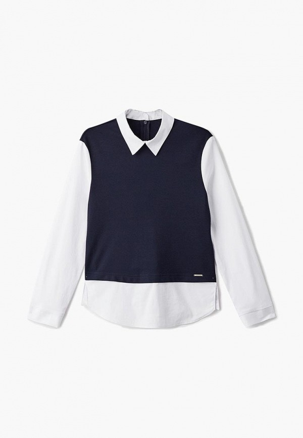 блузка blauz для девочки, синяя