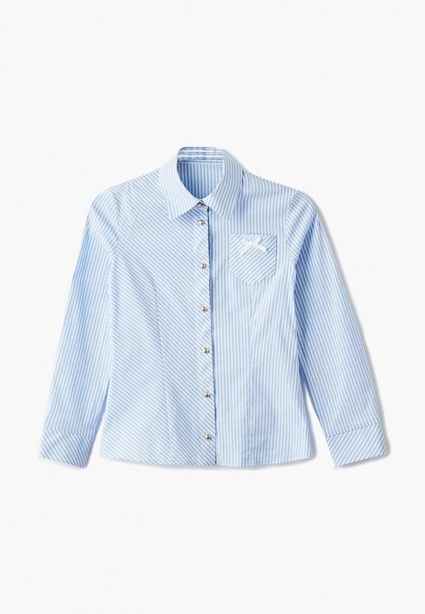 блузка blauz для девочки, голубая