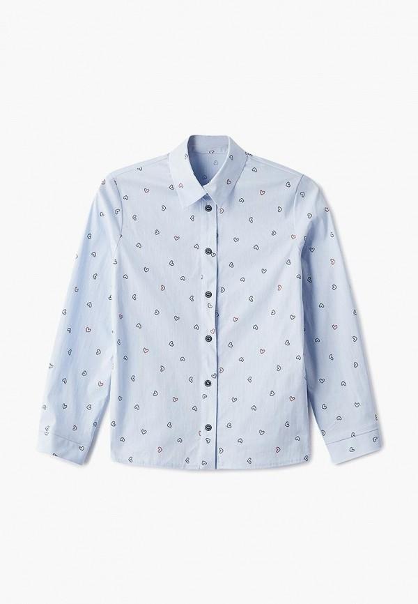 рубашка blauz для девочки, голубая