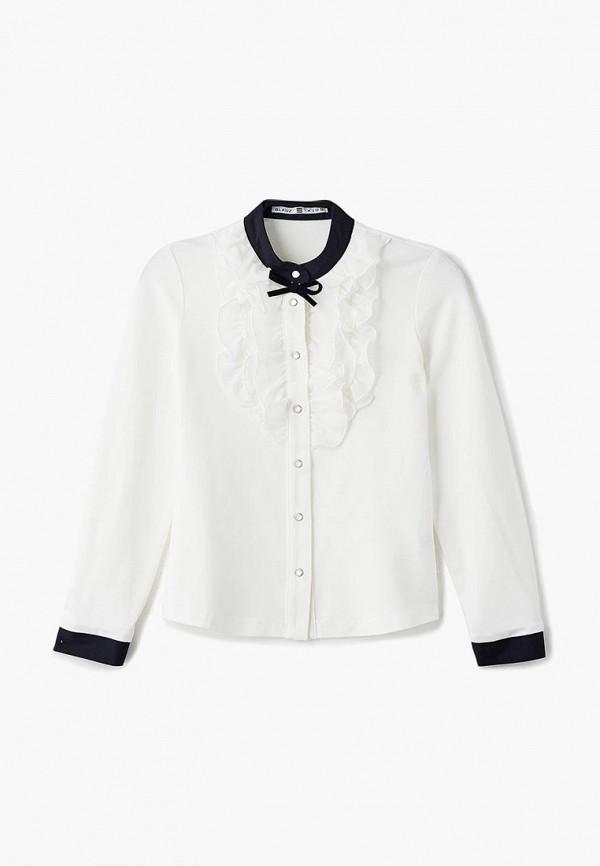 блузка blauz для девочки, белая