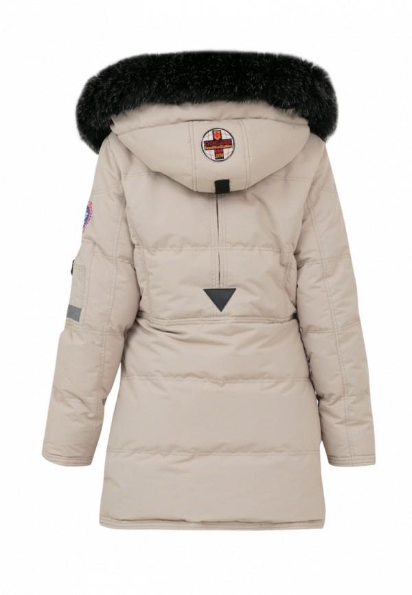 Куртка для девочки утепленная Jan Steen цвет бежевый  Фото 2