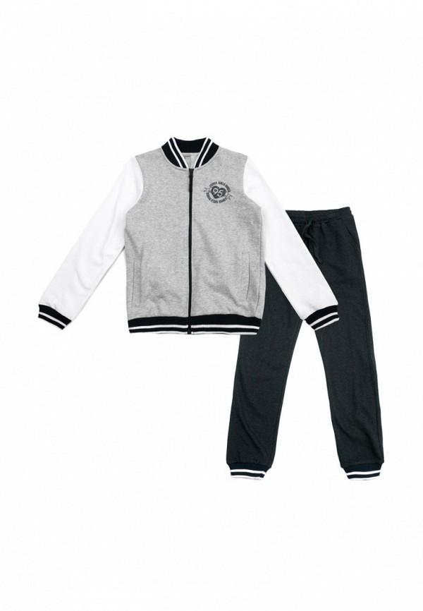спортивные спортивный костюм s'cool для девочки, серый