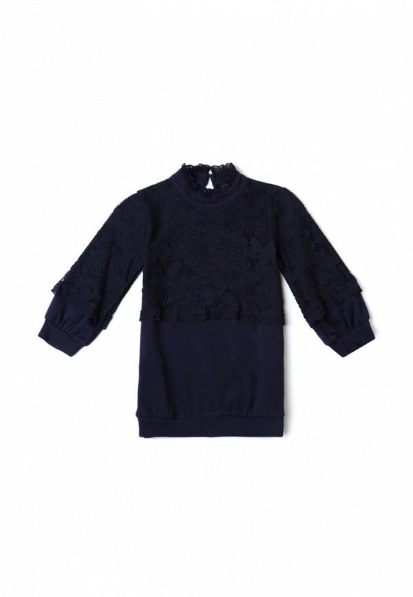 блузка s'cool для девочки, синяя