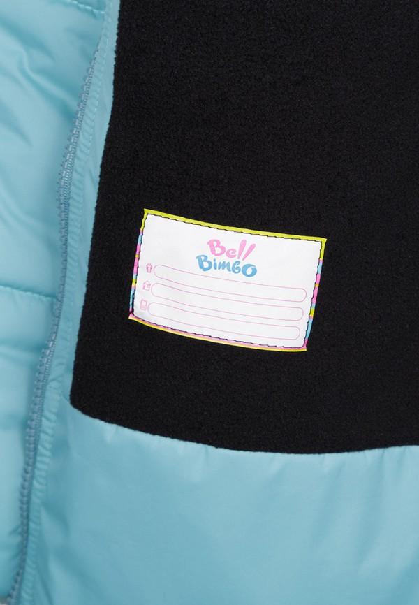 Куртка для девочки утепленная Bell Bimbo цвет бирюзовый  Фото 4