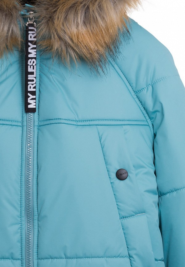 Куртка для девочки утепленная Bell Bimbo цвет бирюзовый  Фото 6