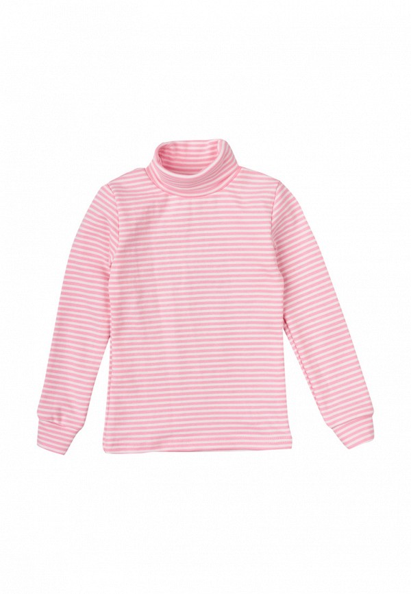 водолазка фламинго текстиль для девочки, розовая