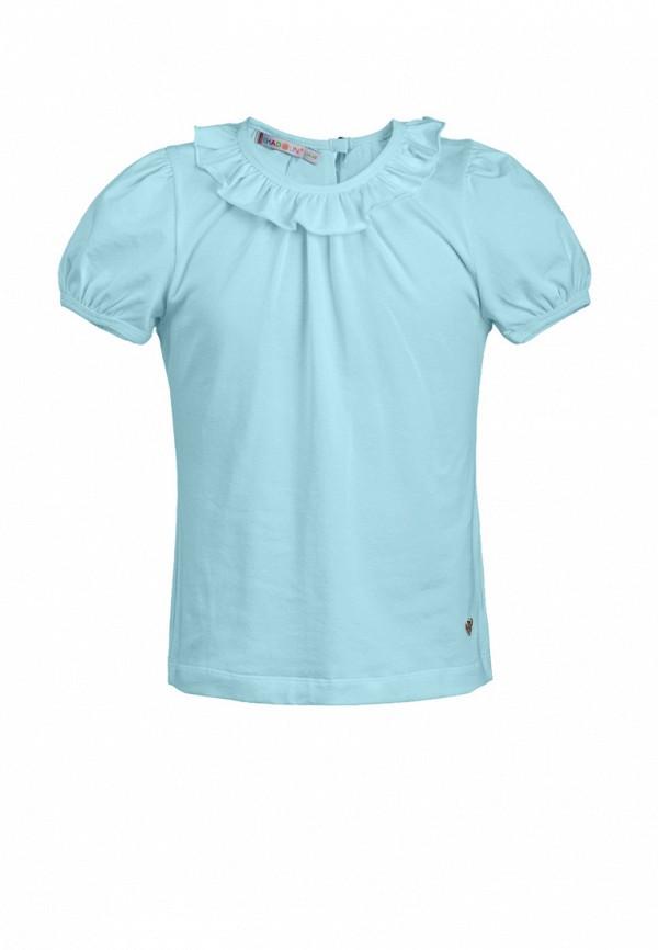 блузка chadolini для девочки, голубая