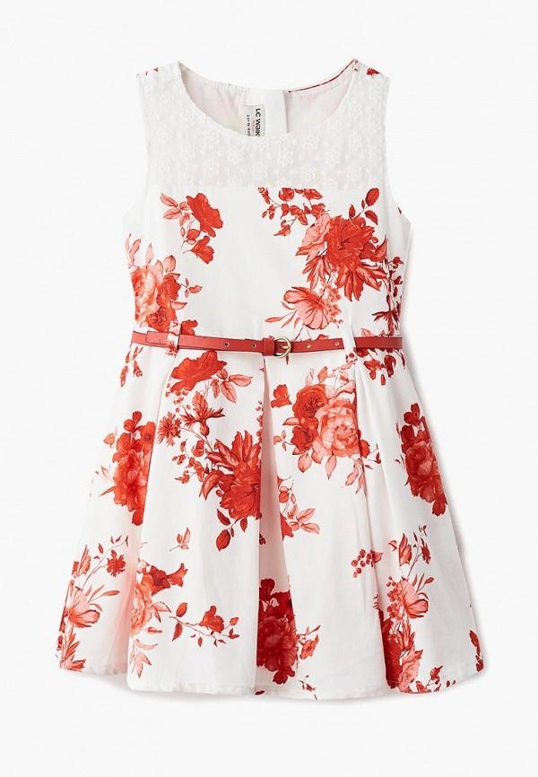 Платья для девочки LC Waikiki цвет белый