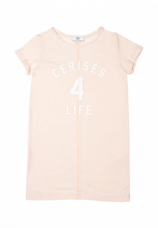 футболка с коротким рукавом le temps des cerises для девочки, розовая