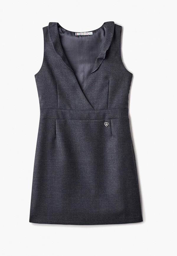 повседневные платье chadolini для девочки, серое