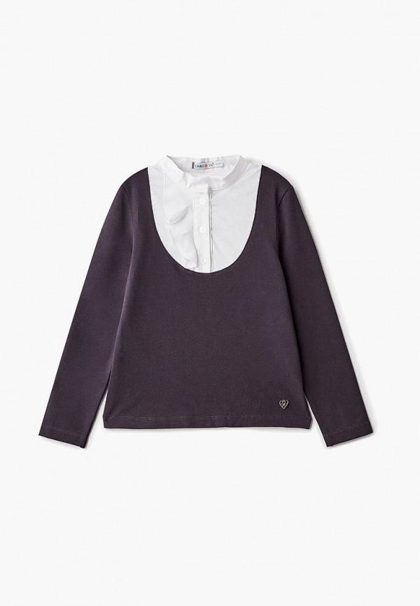 блузка chadolini для девочки, серая