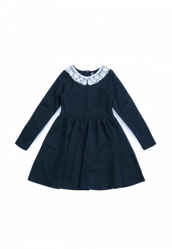 повседневные платье s'cool для девочки, синее