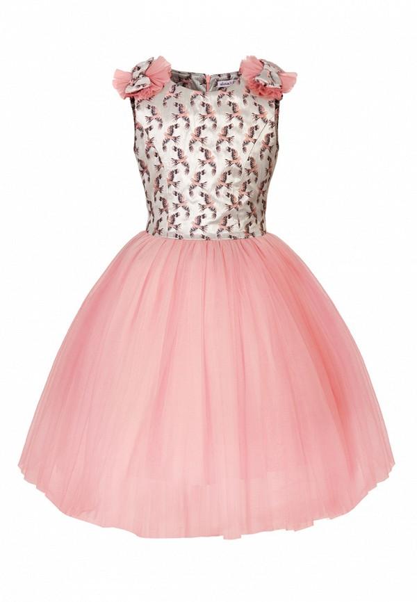 платье alisia fiori для девочки, розовое
