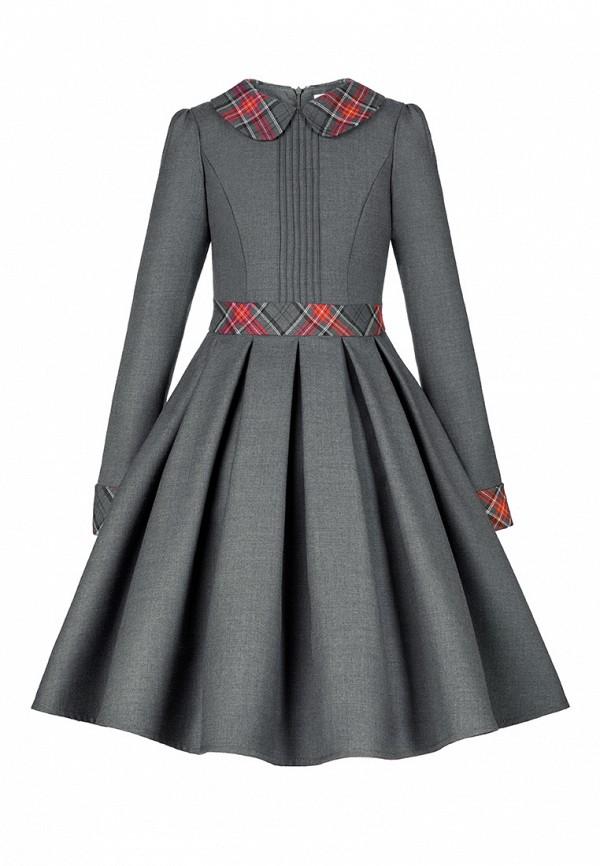 повседневные платье alisia fiori для девочки, серое