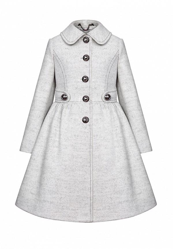 пальто alisia fiori для девочки, серое