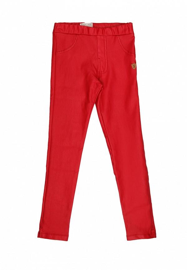 брюки noble people для девочки, красные