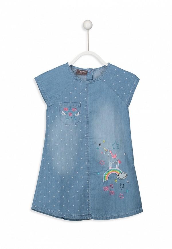 Платья для девочки джинсовое LC Waikiki цвет синий