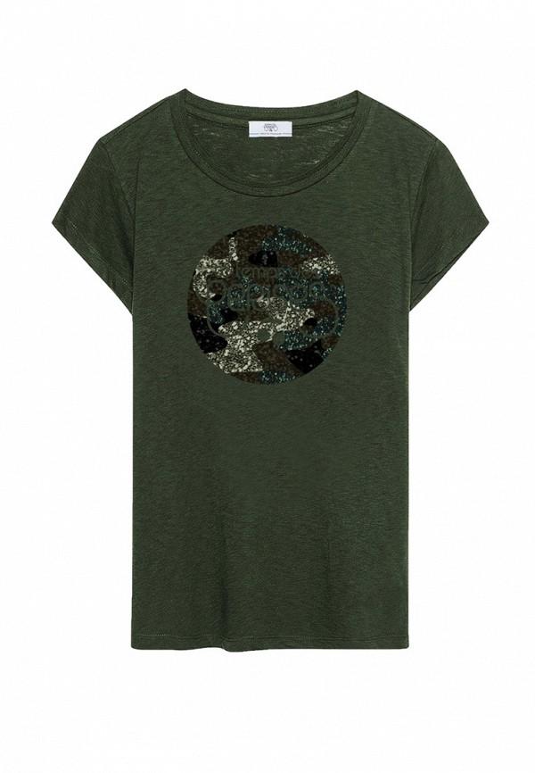 футболка с коротким рукавом le temps des cerises для девочки, зеленая