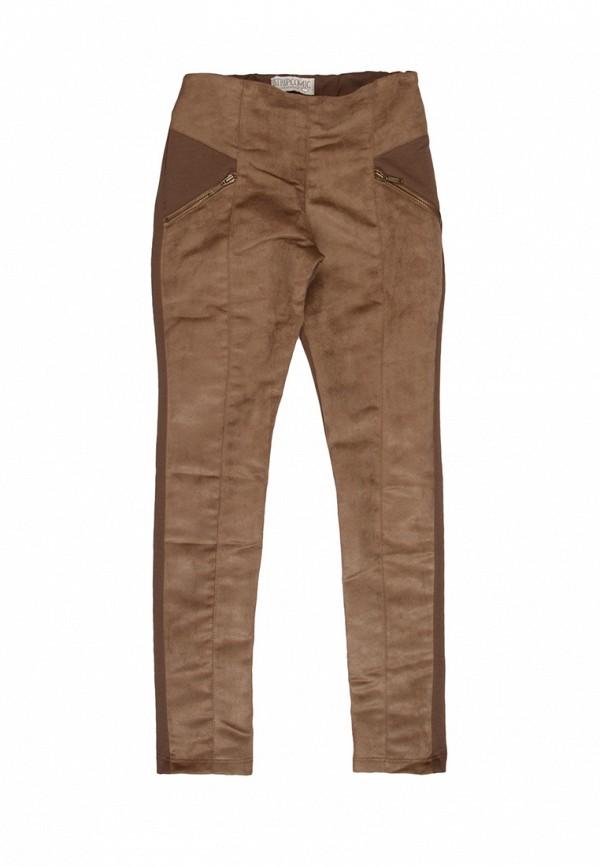 брюки noble people для девочки, коричневые