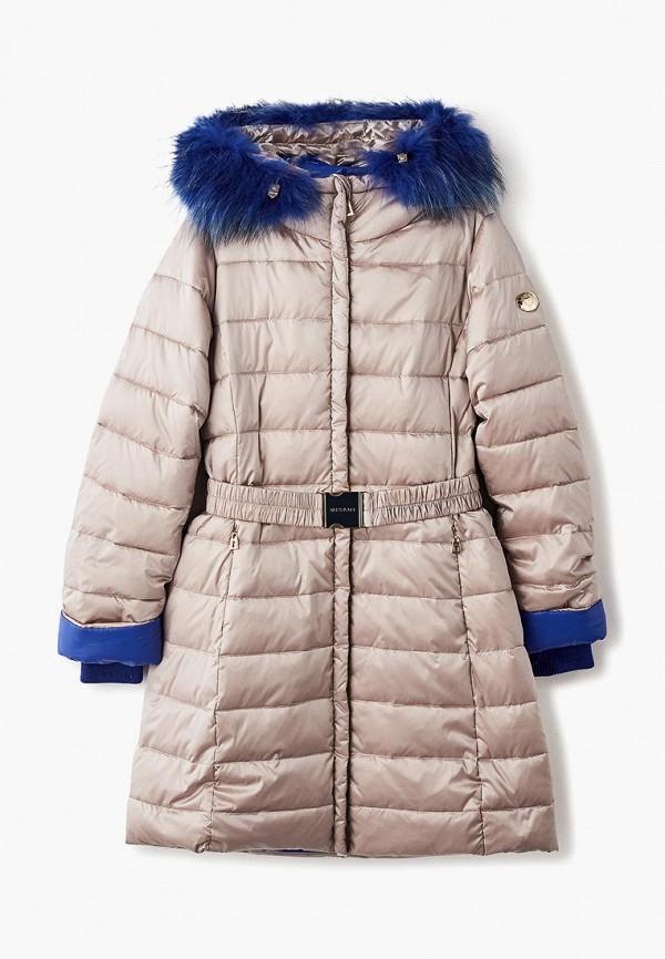куртка mes ami для девочки, бежевая