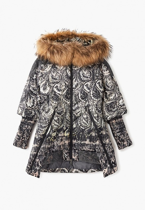 куртка mes ami для девочки, черная