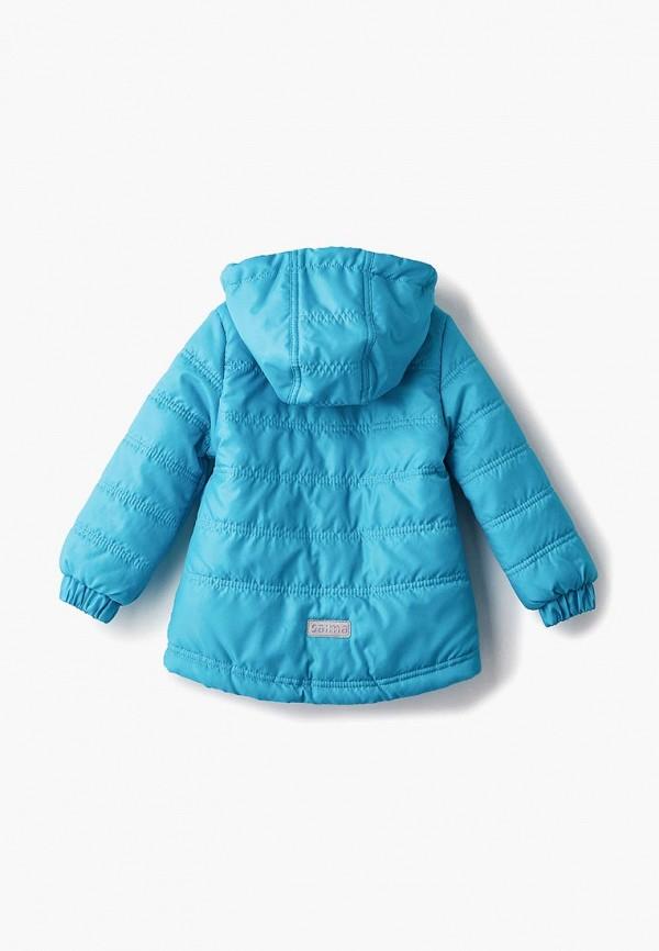 Куртка для девочки утепленная Saima цвет бирюзовый  Фото 2