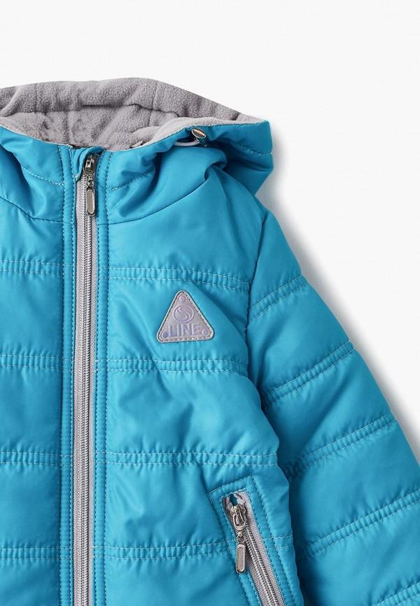Куртка для девочки утепленная Saima цвет бирюзовый  Фото 3